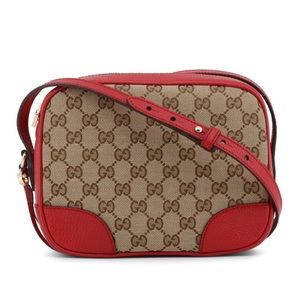 Gucci red canvas crossbody bag